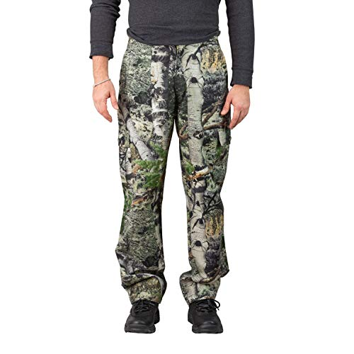TrailCrest Men's Camo Hunting Cargo Pants | 6 Pockets | Mossy Oak Mountain Country