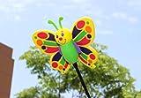 HSDDA Cartoon Butterfly EVA Car Antenna Ball Car Top Aerial Topper Anti-Collision Decorations