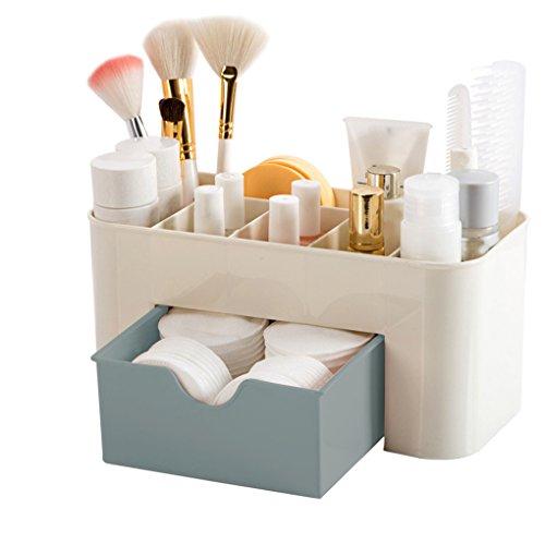 F-blue Mini Maquillaje Titular Caja de Almacenamiento Caja de cosméticos del lápiz...