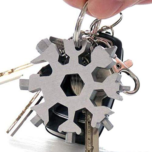BianchiPatricia Mini Stainless Steel Bottle Opener Outdoor Equipment Can Opener Hex Keychain