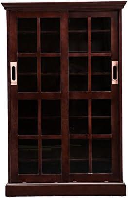 SEI Furniture Sliding Door Media Cabinet Espresso product image