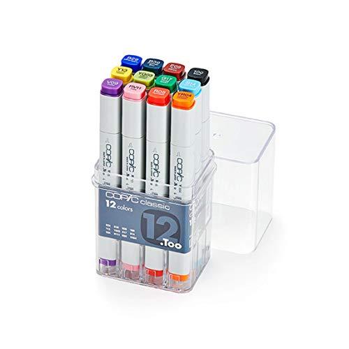 Copic classic Basis Marker 12-er Set V09, RV11, R08, YR04, Y13, YG03, G17, B14, B29, B39, E09, 100