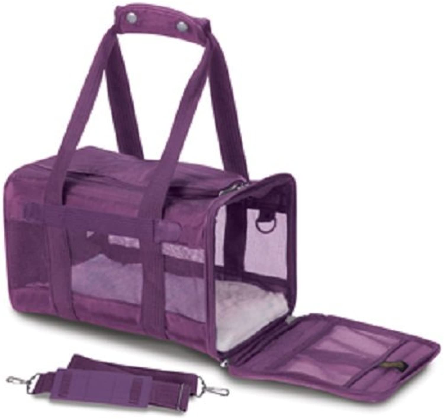 Sherpa Original Deluxe Pet Carriers With Bonus Travel PortABowl (Plum, Small)