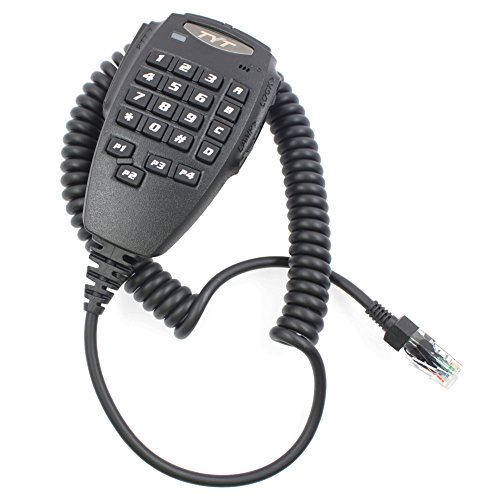 Tenq Speaker Mic Microphone with PTT for Quad Band Transceiver Two Way TYT Radio Th-9800