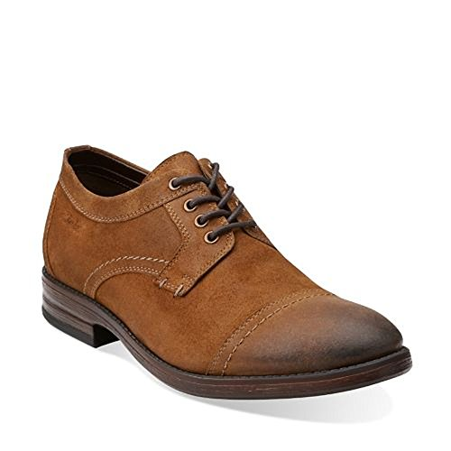 Clarks Delsin Top Leather Herren Men Leder braun