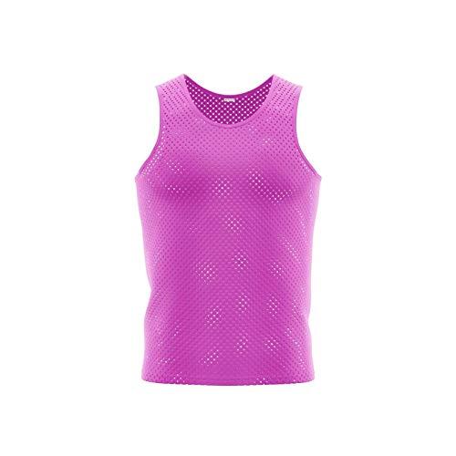 Alpas 10x Trainingsleibchen/Markierungshemden/Leibchen 6 Farben/alle Größen lieferbar PINK, Größe: Senior