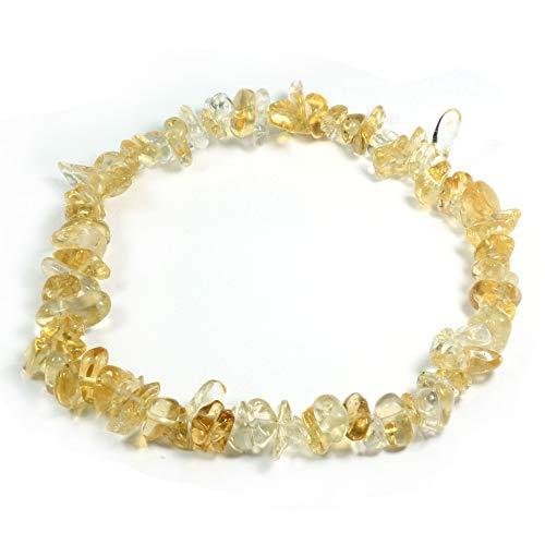 Bracelet avec pierre précieuse de citrine.