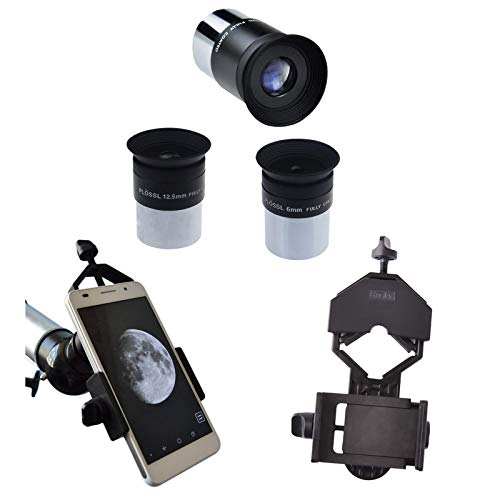 Gosky 6mm 12.5mm 20mm 1.25inch Plossl Telescope Eyepiece & Cell Phone Adapter Mount kit