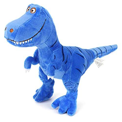 Creacom Plüsch T-Rex Tyrannosaurus Dinosaurier Figur, 28cm Schlafenszeit Kuscheltier Spielzeug Süße weiche Plüsch T-Rex Tyrannosaurus Dinosaurier Figur blau