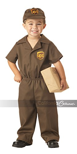 California Costumes UPS Driver Toddler Costume Brown