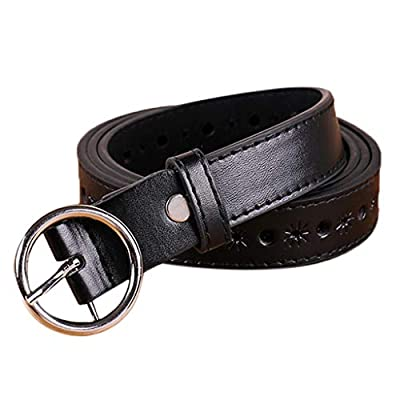 Leather Dress Belt with Single Prong Buckle, Fashion & Classic Designs for Work Business and Casual