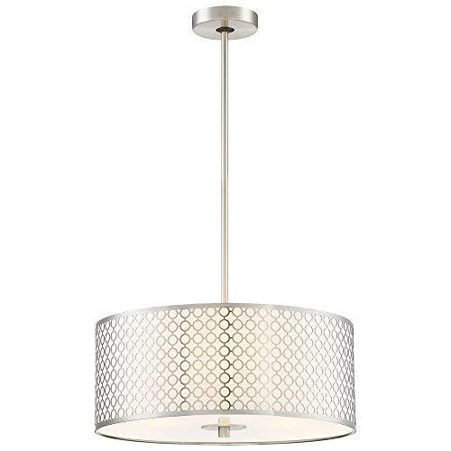 George Kovacs P1266-084 - Lámpara de techo colgante (3 luces, 225 W, incandescente, níquel cepillado)