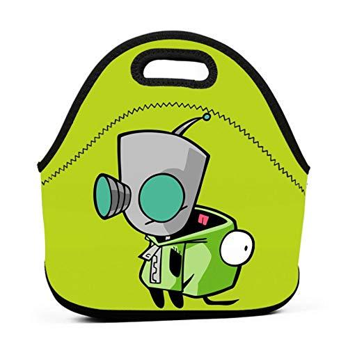 Women Lightweight Invader Zim Lunch Box Reusable Tote Bag Fun Lunch Bag Anime Handbag For Picnic/Work