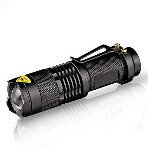 Led étanche lampe de poche Q5 2000LM 3 modes Zoomable Hot vente sans Tazer chocs Mini lampe torche Penlight