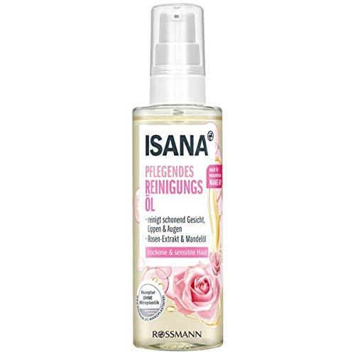 ISANA pflegendes Reinigungsöl - für Gesicht, Lippen und Augen - für trockene & sensible Haut - 100 mL