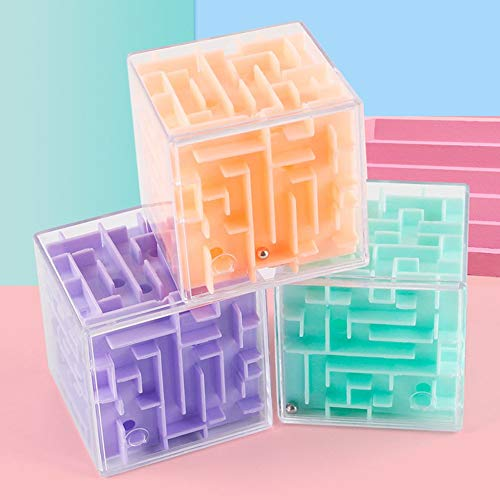 #N/V 1pc 3D Laberinto Bola Rotación Cubo Profesional Velocidad Puzzle Cubo Con Pegatinas Niños Brain Teaser Cubo Magico Juguetes Color Al Azar