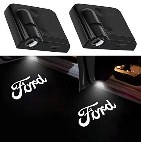 2Pcs of Car Door Lights Logo Projector, Universal Wireless Car Door Led Projector Lights, Upgraded Car Door Welcome Logo Projector Lights for All Car Models (FOR F0RD-LETTERS)