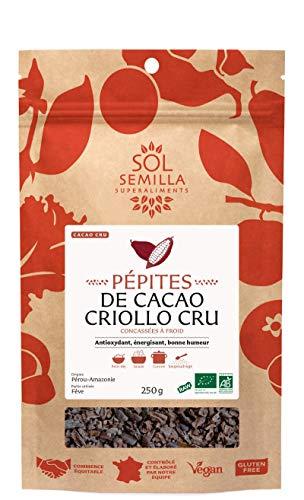 Pépites de Cacao Criollo Crues Bio | 250g | Sol Semilla