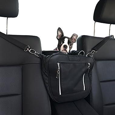 ZuGoPet Jetsetter small - Airport approved dog bag, soft sided pet carrier, travel bag, Dog Carrier, Airline compliant Pet Bag, Dog car seat, dog Handbag, Dog Purse, Pet Bag, Cat Bag (Midnight Black)