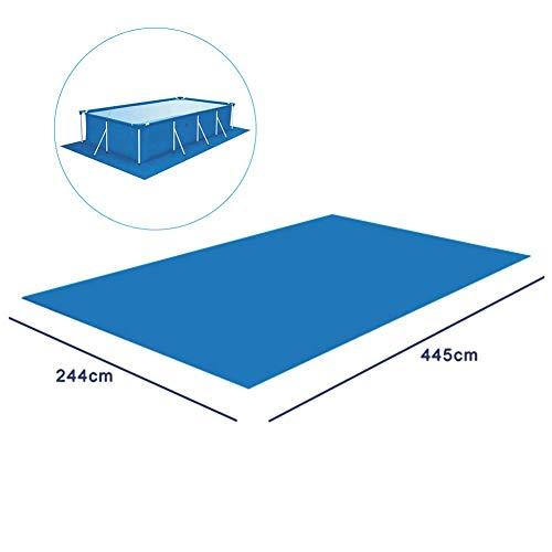 Schwimmbecken Matte - Pool-Grundtuch Bodenmatte Schwimmbadmatte Aus Polyester Quadratische Boden-Poolmatte, Bodenfolien Für Pools Für Verschiedene Aufblasbare Pools
