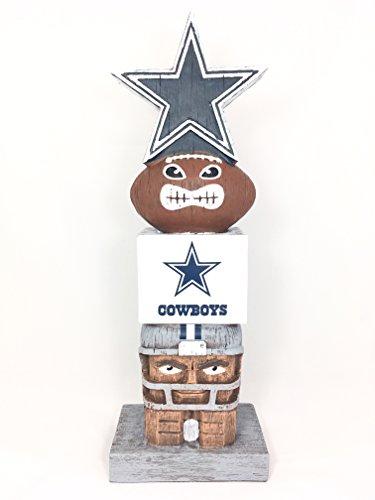 Evergreen Dallas Cowboys Tiki Totem Stange Statue für Außenbereich Garten Dekoration