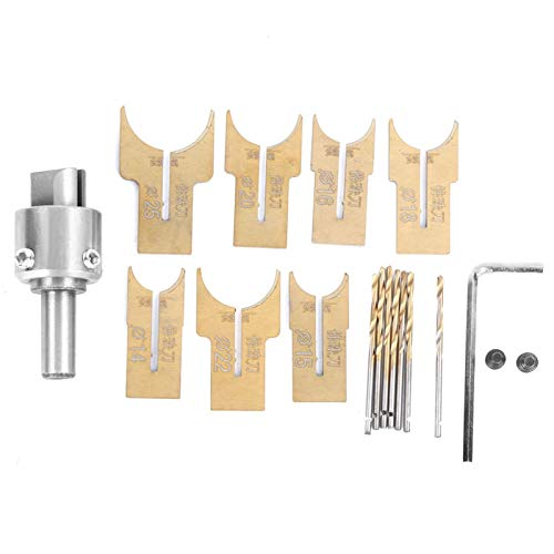 Brocas para cuentas de madera de 14-25 mm, fabricante de cuentas de madera de acero de aleación, cortador de bolas de 18 piezas, brocas para fresado de bolas, para pulseras de manualidades DIY