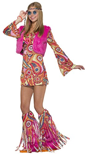 Bristol Novelty- Hippie Für Immer Kostüm Costumes para Adultos, Multicolor, 44-47 (77053)