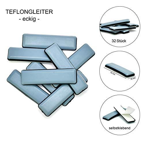 Store HD selbstklebende Möbelgleiter Set für Stühle und Sessel - Robuste Teflongleiter zum Schutz von Parkett, Laminat und Teppich - Möbelschoner - Beste Alternative zu Filzgleitern (32)