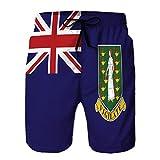 Xunulyn Boardshorts Short de Bain à séchage Rapide pour Homme Short de Plage Flag Iles Vierges Royaume-Uni