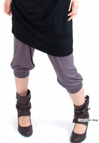 nadoo(ナドゥー)全20色ヨガウェアフィットネスダンスジャージサルエルクロップドパンツ484ブラック