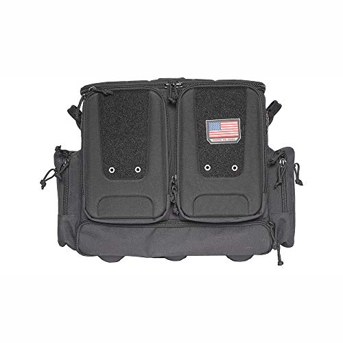 G. Outdoor Products G.P.S. GPS-T2112ROBB Tactical Rolling Bag Range Bag Holds 10 Handguns, Black