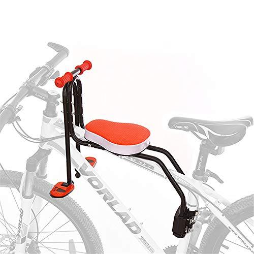 HUIHUAN Fahrradkindersitz mit rutschfestem Handlauf und faltbaren Pedalen - Fahrradbaby-Sicherheitssitz für Mountainbikes, Hybridbikes, Fitnessbikes für 3-6-jährige Kinder und Kleinkinder