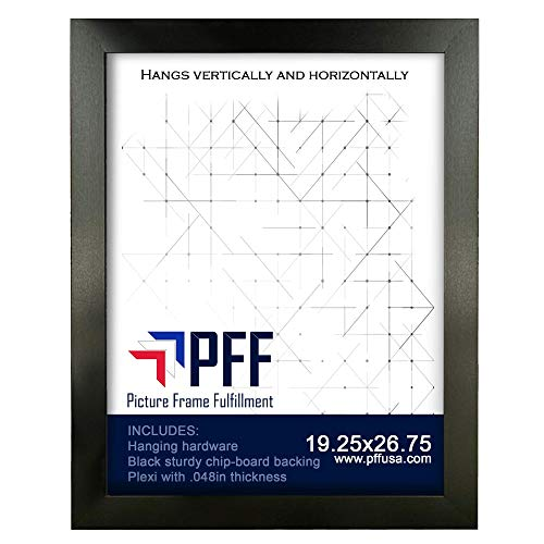 19.25x26.75 Puzzle Frame | Picture Frame | Poster Frame | 1.25 Inch Black Frame | Plexi Glass and Hanging Hardware Included