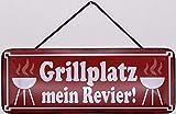Blechschild mit Kordel 27 x 10 cm Wand/Tür Schild: