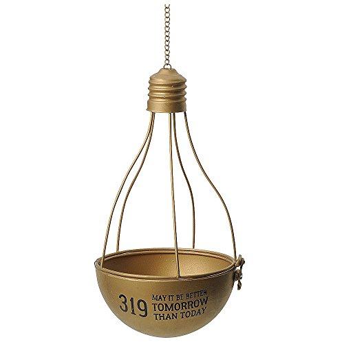 GREENHOUSE ハンギング ランプ ブリキポット M ゴールド 3940-A-GD