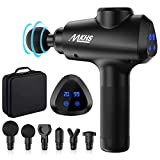 Deep Tissue Massage Gun - Massage Gun for Athletes - Power Muscle Massage for Back Pain Relief and Recovery - 6 Massage Heads 20 Speed High-Intensity Vibration Rechargeable with Portable Case