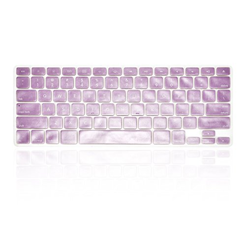 TOP CASE Silicone Cover Skin Compatible with Apple Wireless Keyboard with TOP CASE Mouse Pad (Metallic, Metallic Purple)