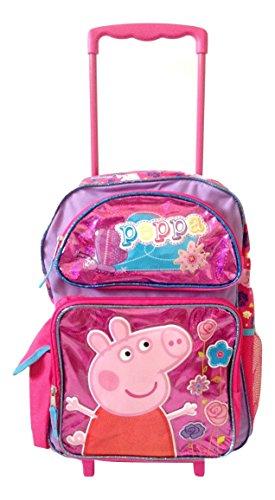 Peppa Pig Shine Pink Large Rolling Backpack