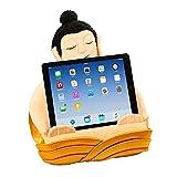 Atril Buda, Soporte cojín de Lectura para Libros, Tablets, iPad y eReaders – Regalo de Viaje, Almohada de Lectura