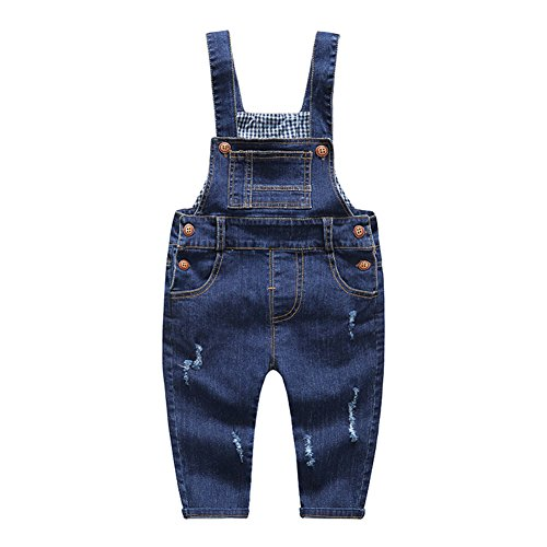 Kidscool Baby & Little Boys/girls Soft Blue Denim Overalls 6-12m