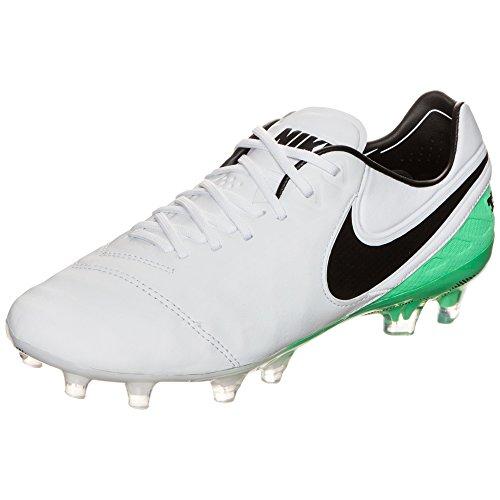 Nike Tiempo Legend VI FG, Bianco (White Black Electro Green), 48 EU