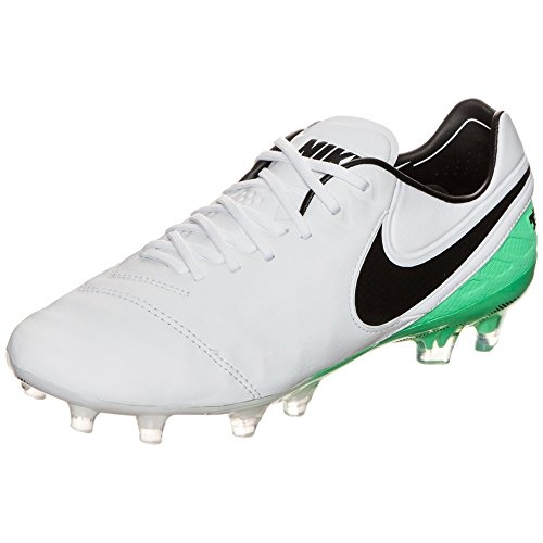 Nike Tiempo Legend VI FG, Bianco (White Black Electro Green), 48 EU