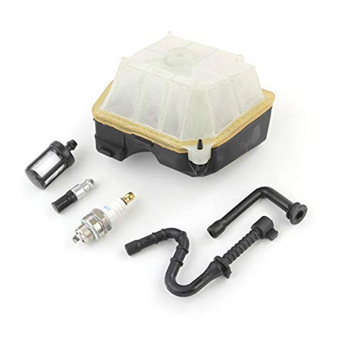 Colector de admisión de manguera de línea de filtro de combustible de aire para MS361 Kit de reparación de carburador Motosierra Reemplazar pieza de repuesto