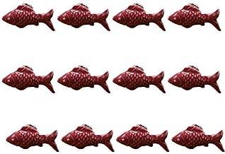 WLALLSS Set van 12 schattige visvorm keramische handgrepen, kindermeubilair handgrepen voor deurkast lade kast dressoir bo...