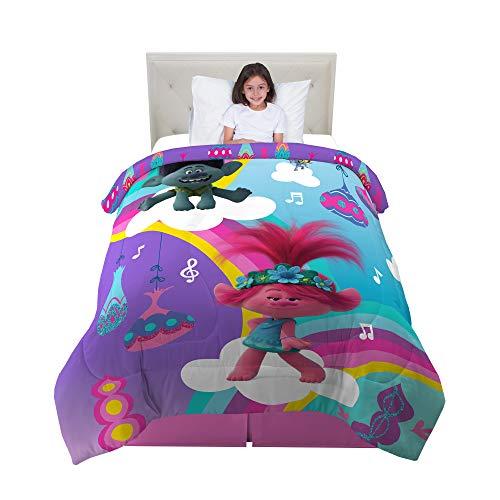 Franco Kids Bedding Super Soft Microfiber Reversible Comforter, Twin/Full Size 72' x 86', Trolls World Tour