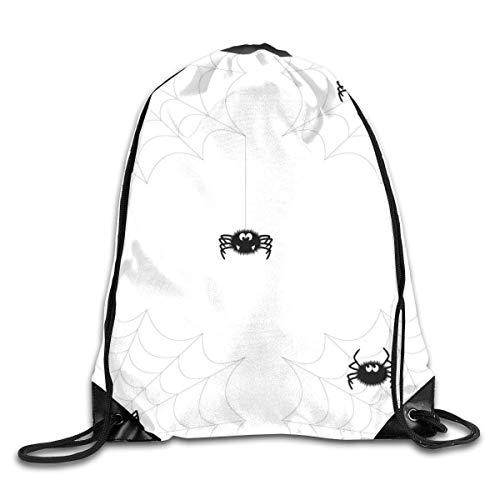 Sporttaschen Turnbeutel, Drawstring Bags Bulk, Bundle Backpack Spider Web Halloween Fitness Large Capacity Shoulder Drawstring Bags