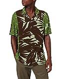 Desigual CAM_ANTO Camisa Abotonada, Verde, S para Hombre
