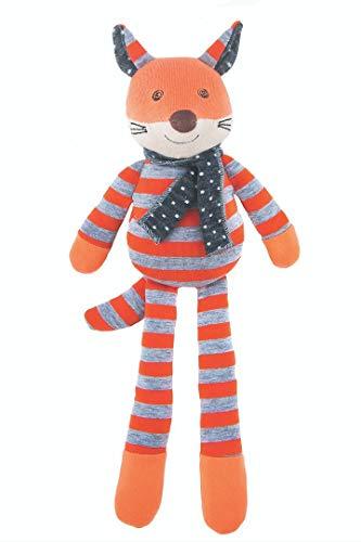 Apple Park Organic Farm Buddies - Frenchy Fox Plush Baby Toy for Newborns, Infants, Toddlers - Hypoallergenic, 100% Organic Cotton