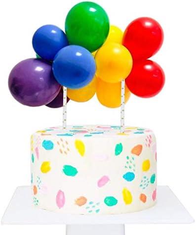 Wocuz 10 pcs 5 inch Rainbow Colorful Balloon Cloud Cake Topper Mini Balloon Garland Cake Topper product image