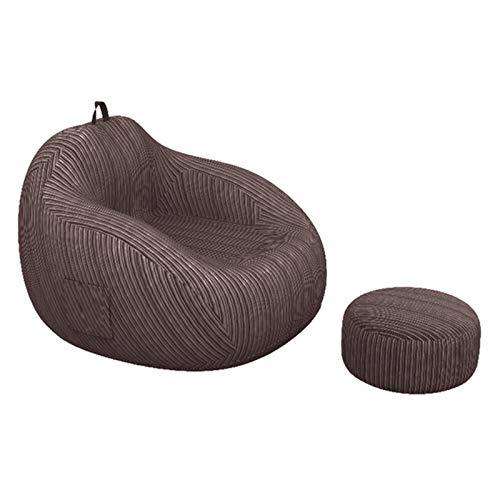 ZIJ Puf grande para silla, sofá de lino, sofá reclinable, cojín para sofá, dormitorio, sala de estar sin relleno (color marrón oscuro)